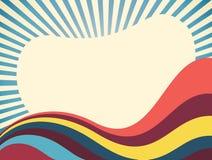 Abstrakt Retro vektorbakgrund royaltyfri illustrationer