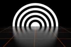 Abstrakt Ring Luminous Energy Tunnel Light effekt framförande 3d Royaltyfri Fotografi