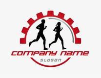 Abstrakt rinnande logo på en vit bakgrund Fotografering för Bildbyråer