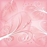 Abstrakt rosa bakgrund med virvlar Royaltyfri Fotografi