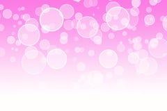 Abstrakt rosa bokehbakgrund Royaltyfri Bild