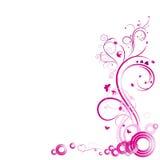 Abstrakt rosa färgmodell med virvlar Royaltyfria Foton