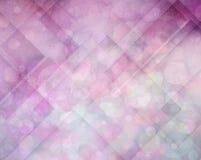 Abstrakt rosa färg- och lilabakgrund med vinklar och cirklar Arkivbild