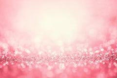 Abstrakt rosa ljus för romansk bakgrund Arkivfoton