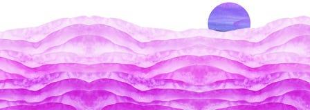 Abstrakt rosa, purpurf?rgad lila vattenf?rg F?rgen som plaskar p? papperet Rosa f?rger f?r vattenf?rgf?rgst?nkfl?ck Abstrakt fl?c arkivbilder