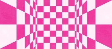 Abstrakt rosa rutig textur Fotografering för Bildbyråer