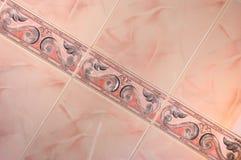 abstrakt rosa tegelplatta Arkivbild