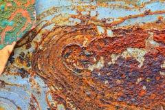 Abstrakt rostig metall för bakgrund Arkivbild