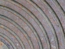Abstrakt rostig metallyttersida med runda cirklar, Royaltyfria Bilder