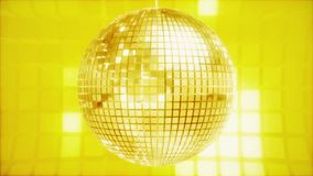 Abstrakt rotera som exponerar diskobollen i guld- glöd royaltyfri illustrationer