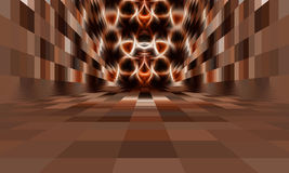 Abstrakt rum med inget tak Arkivbilder