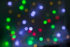 Abstrakt rund bokehbakgrund av julljus Royaltyfria Foton