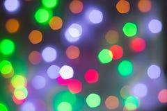 Abstrakt rund bokehbakgrund av julljus Arkivbild