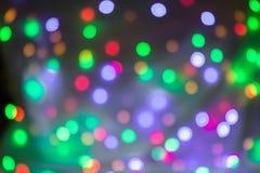 Abstrakt rund bokehbakgrund av julljus Fotografering för Bildbyråer