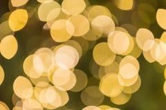 Abstrakt rund bokehbakgrund av julljus Arkivfoto