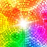 Abstrakt rund färgrik bakgrund royaltyfri illustrationer