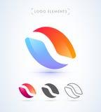 Abstrakt rund logo Arkivfoton