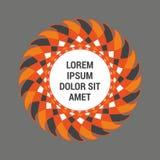 Abstrakt rund mall i orange färg stock illustrationer