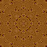 Abstrakt rund prydnadguld och lilor Royaltyfri Bild
