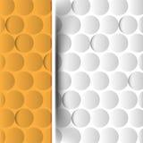 Abstrakt runda element, seamless modell för krom Royaltyfri Bild
