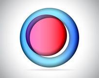 Abstrakt runt färgrikt exponeringsglas Arkivfoto