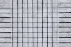 Abstrakt rutig bakgrund av träplankorna bakgrundspläd Abstrakt minimalistic modell av linjer Royaltyfria Bilder