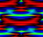 Abstrakt sömlös bakgrund av röda och blåa, gula och gröna band, fläckar Arkivfoton