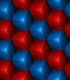 abstrakt sömlös bakgrund 3d med kuber Royaltyfri Fotografi