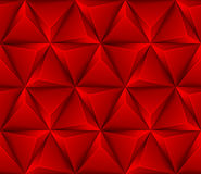 abstrakt sömlös bakgrund 3d med röda trianglar Fotografering för Bildbyråer