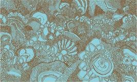 Abstrakt sömlös bakgrund för flotta Arkivfoto