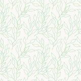 Abstrakt sömlös bakgrund med gröna sidor vektor illustrationer