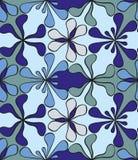 Abstrakt sömlös blom- modell royaltyfri illustrationer