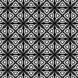 Abstrakt sömlös dekorativ geometrisk bakgrund för ljussvart- & vitmodell royaltyfri bild