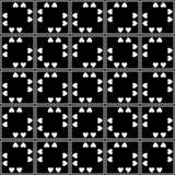 Abstrakt sömlös dekorativ geometrisk bakgrund för ljussvart- & vitmodell arkivfoton
