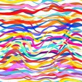 Abstrakt sömlös färgrik randig bakgrund Royaltyfri Fotografi
