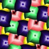Abstrakt sömlös färgrik vriden modell för vektor Royaltyfri Fotografi