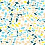 Abstrakt sömlös geometrisk hand-dragen modell royaltyfri illustrationer