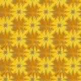 Abstrakt sömlös gul brun invecklad mosaikmodell royaltyfri illustrationer