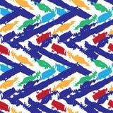 Abstrakt sömlös krabb modell för vektor också vektor för coreldrawillustration Hand drog borsteslaglängder Arkivbilder
