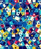 Abstrakt sömlös modell av cirklar och prickar Cirklar som till varandra binds stock illustrationer