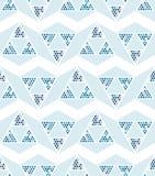Abstrakt sömlös modell av trianglar Skuggar av blått Royaltyfri Fotografi