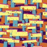 Abstrakt sömlös modell för flickor, pojkar, kläder Idérik bakgrund med prickar, geometriska diagram rolig tapet för te Royaltyfria Foton