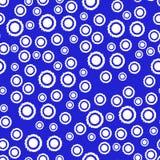 Abstrakt sömlös modell i blått- och vitfärger Arkivbilder