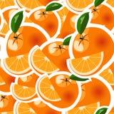 Abstrakt sömlös modell med apelsiner - Fotografering för Bildbyråer