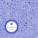 Abstrakt sömlös modell med blom- bakgrund i blåa signaler stock illustrationer