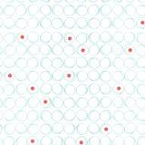 Abstrakt sömlös modell med cirklar och röda prickar royaltyfri illustrationer