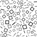 Abstrakt sömlös modell med färgrika kaotiska pinnar och fyrkantdiagram på beiga Geometrisk modell för oändlighet vektor royaltyfri illustrationer