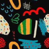 Abstrakt sömlös modell med olika borsteslaglängder och former som bakgrund eller textur royaltyfri illustrationer