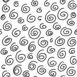 Abstrakt sömlös modell med olika squiggles på vit bakgrund kaotisk modell ocks? vektor f?r coreldrawillustration royaltyfri illustrationer