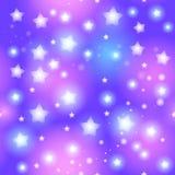 Abstrakt sömlös modell med stjärnan på blå bakgrund vektor Royaltyfri Foto